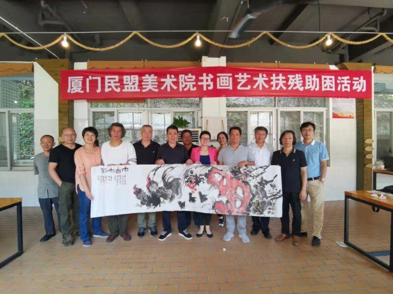 民盟盟员、书法家连海明参与爱心活动,彰显公益情怀