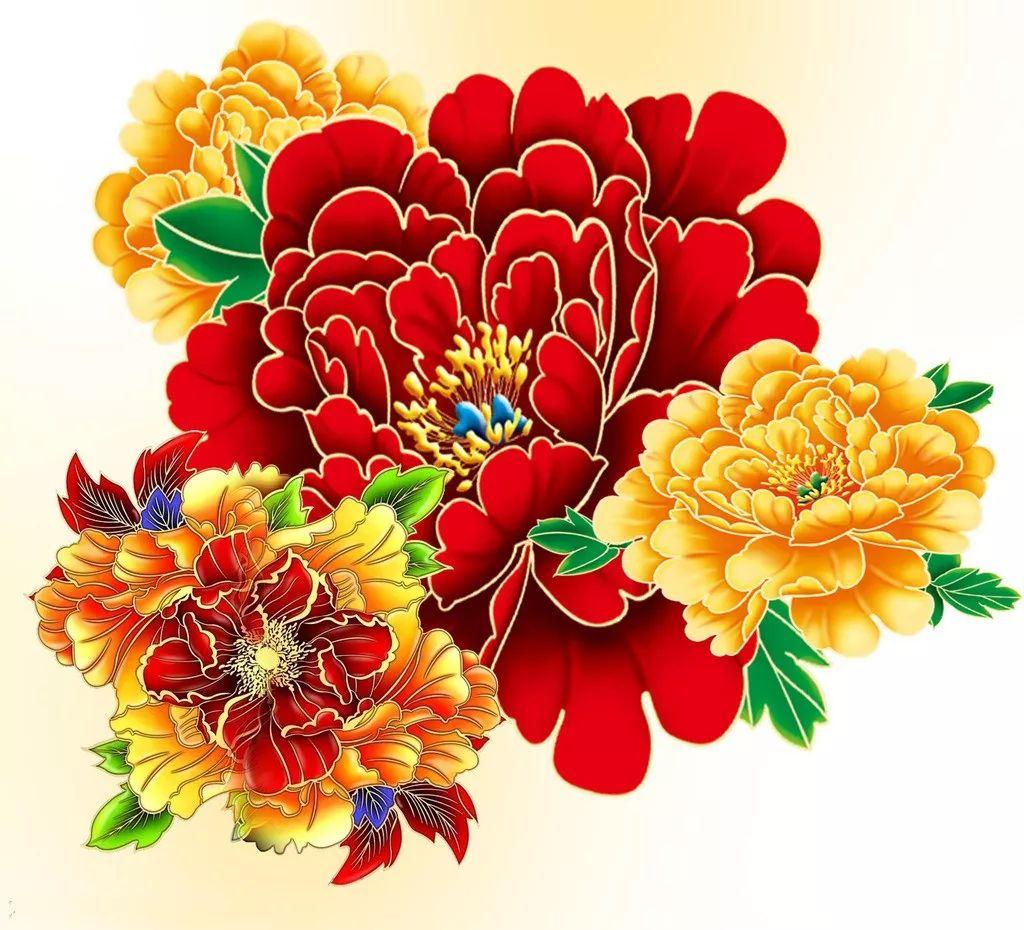 牡丹花图片简笔画手绘 - 【花卉百科网】