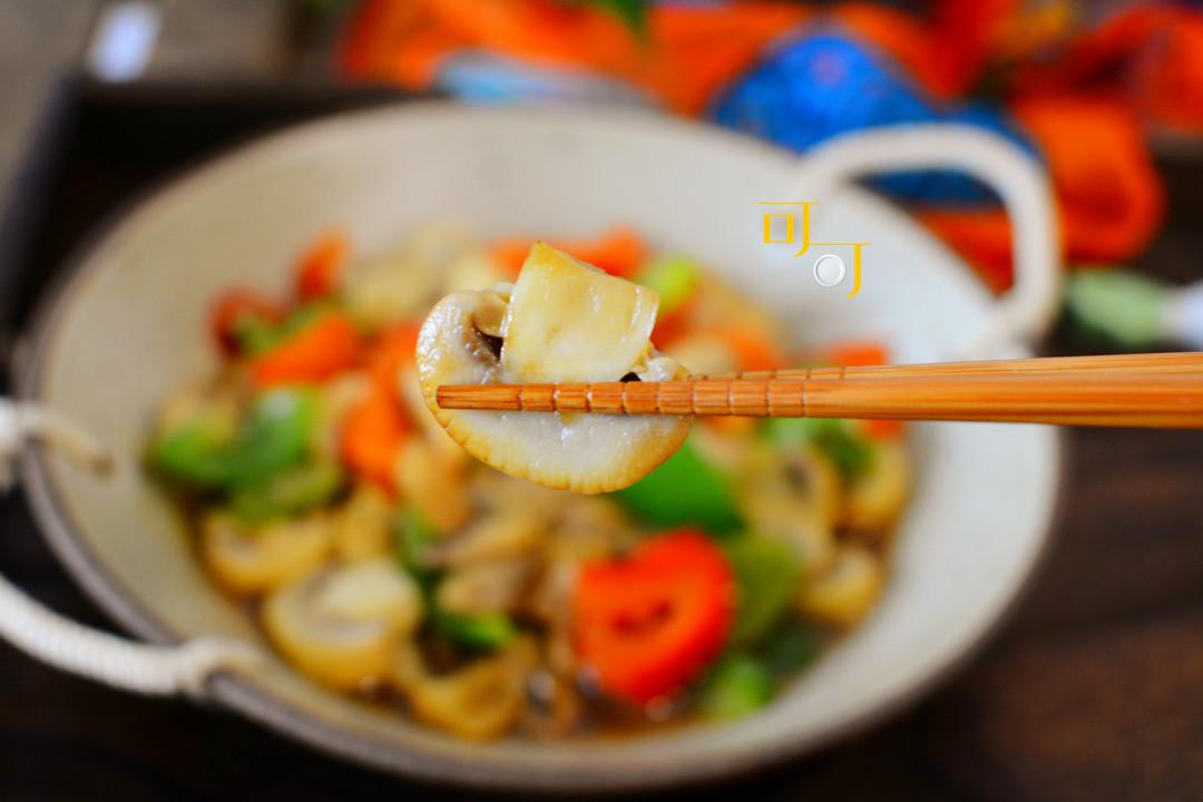 冬天要多吃这盘彩椒蘑菇,好看的食物通常也很好吃,一学就会