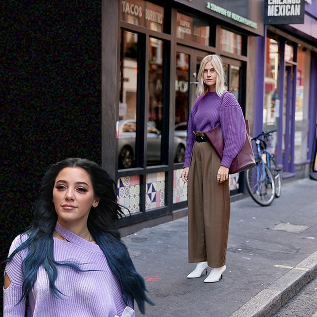 今年秋冬紫色大行其道!杨超越和热巴靠它穿成