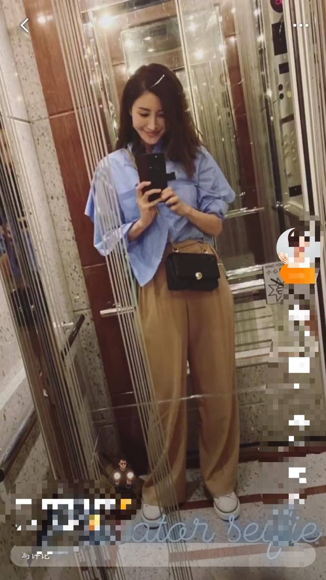 阔太李嘉欣坐拥香港第一豪宅超得意,自家电梯晒自拍脸P成蛇精