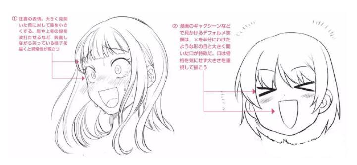 人物表情怎么画?漫画中喜悦表情的画法教程! 教学教程-第19张