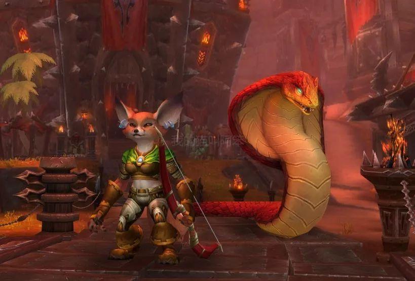 魔兽世界8.3狐人和机械侏儒闲聊,新同盟种族猎人初始宠物确定