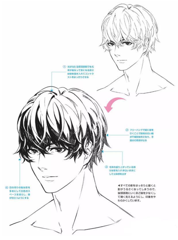 如何画好动漫人物头发?超详细的人物头发绘制教程! 教学教程-第18张