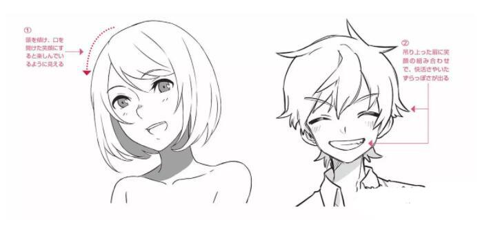 人物表情怎么画?漫画中喜悦表情的画法教程! 教学教程-第12张