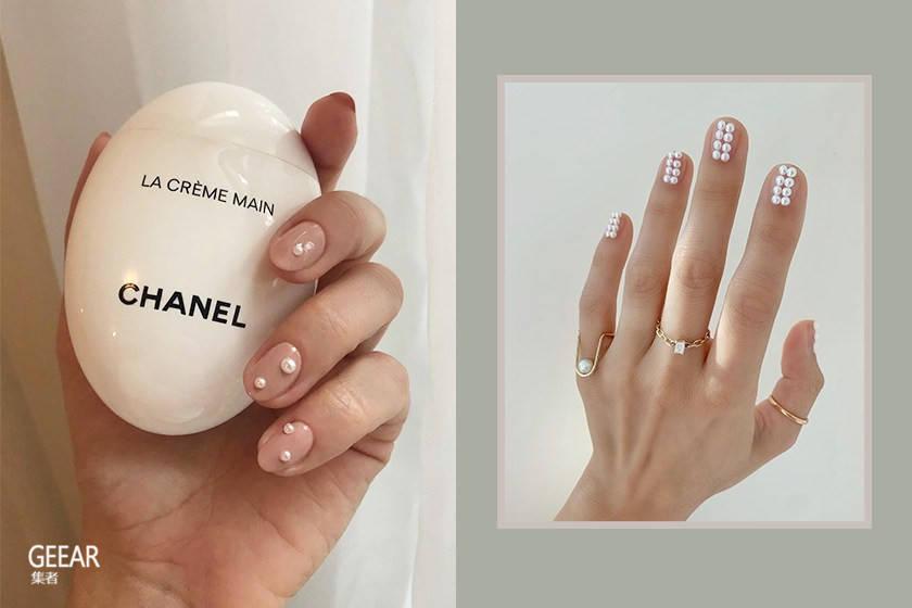 优雅而独特的秋冬灵感:就用绝美的裸色珍珠指甲来搭配吧!