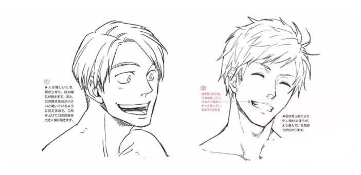 人物表情怎么画?漫画中喜悦表情的画法教程! 教学教程-第11张