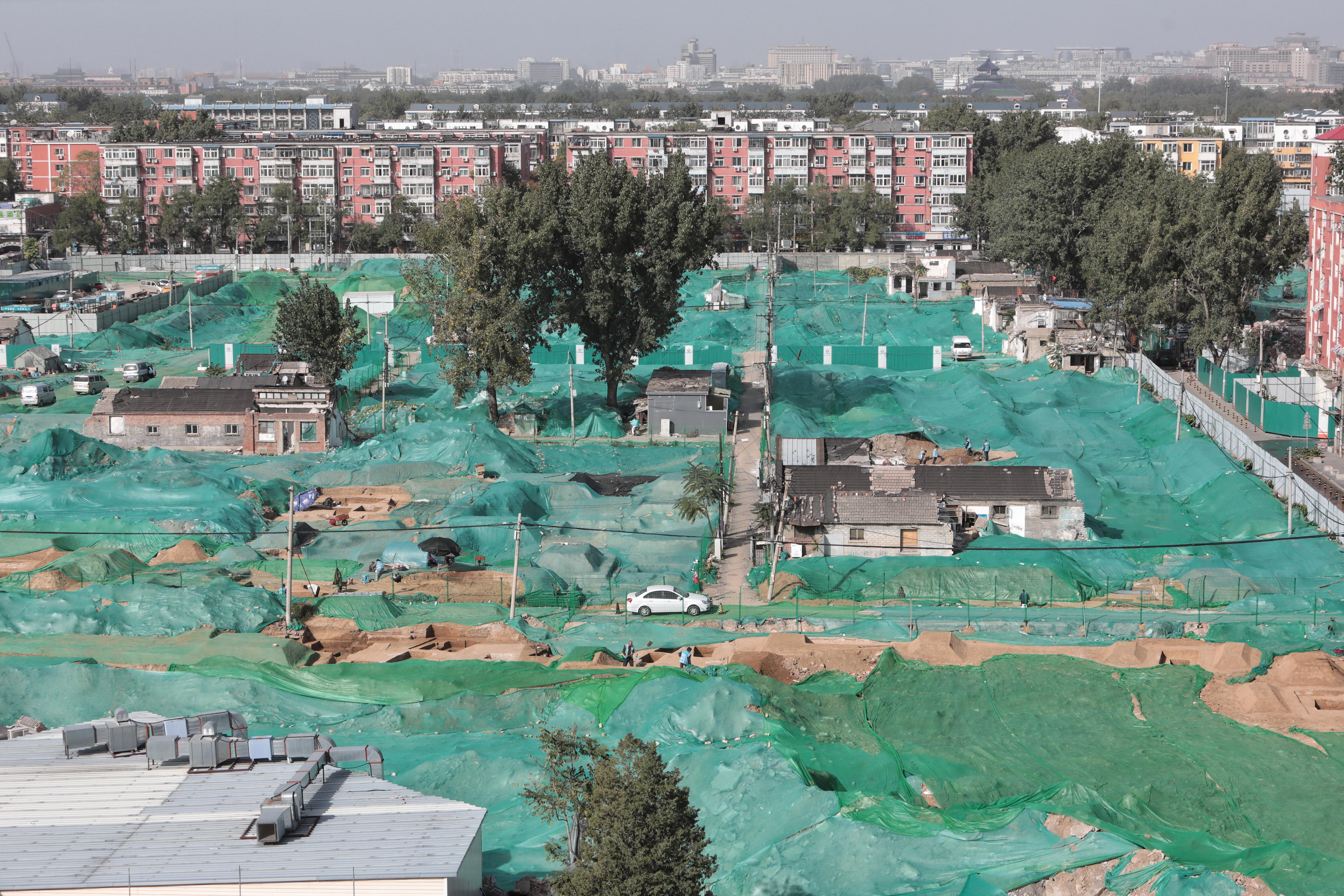 14号线景泰站北工地现古墓,为明清时期普通墓葬