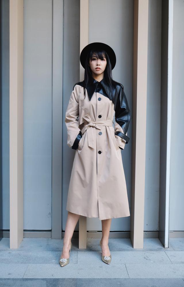 美丽尖儿:初秋穿搭风衣怎么穿才好看?