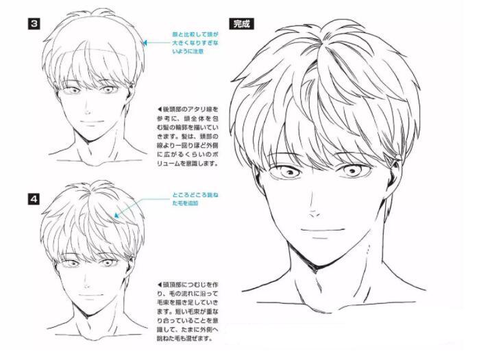 如何画好动漫人物头发?超详细的人物头发绘制教程! 教学教程-第6张