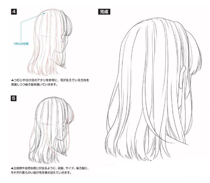 如何画好动漫人物头发?超详细的人物头发绘制教程! 教学教程-第4张