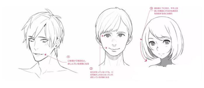 人物表情怎么画?漫画中喜悦表情的画法教程! 教学教程-第10张