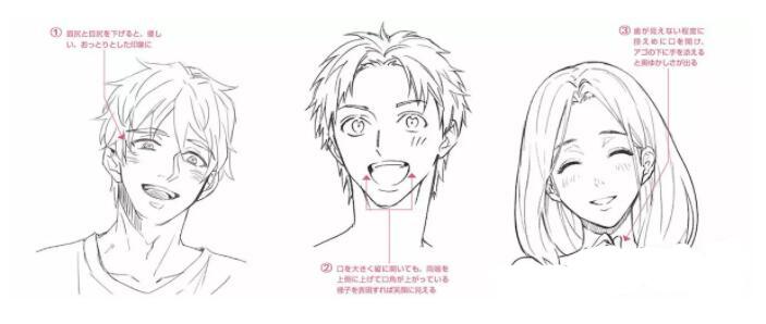 人物表情怎么画?漫画中喜悦表情的画法教程! 教学教程-第13张