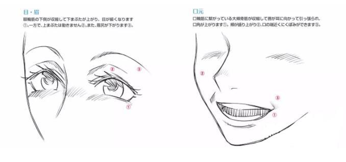 人物表情怎么画?漫画中喜悦表情的画法教程! 教学教程-第3张