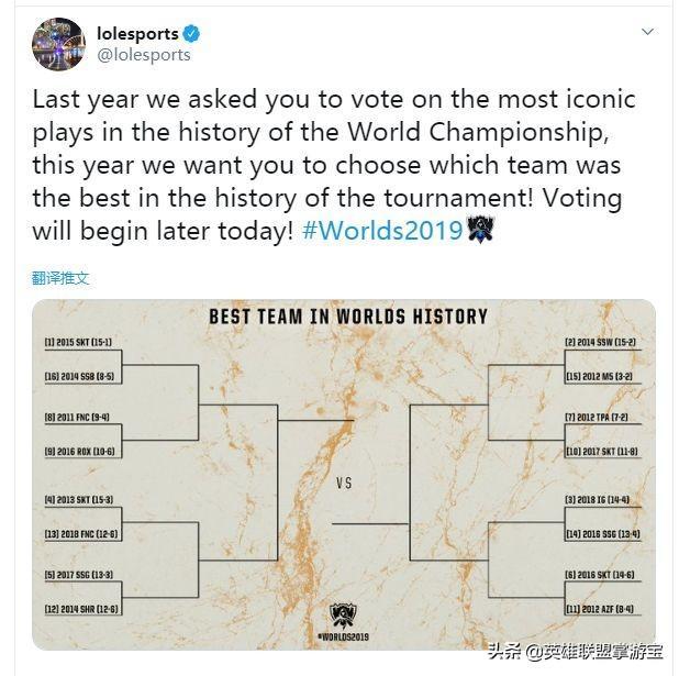官方票选全球总决赛历史战队:2018年的iG入选