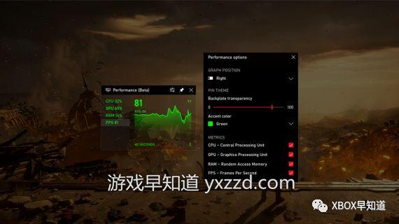 Win10Xbox游戏工具栏更新支持帧数统计与成就追踪