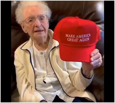 美百岁老奶奶都出来反对特朗普了,她想要的生日礼物:有人弹劾特朗普