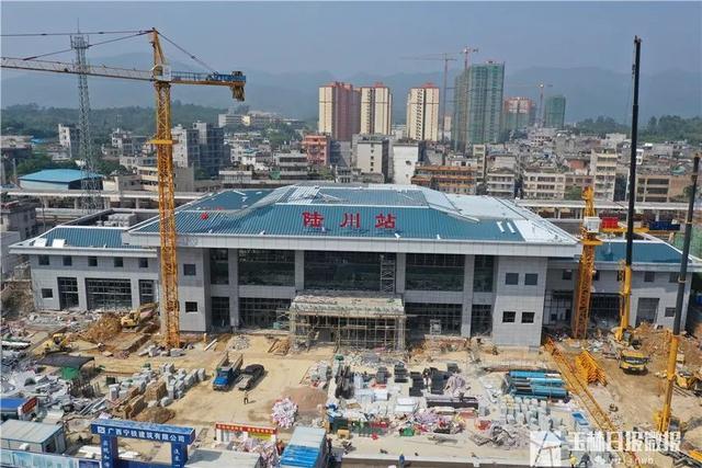 来!看看陆川火车站新站房!预计10月31日具备验收条件