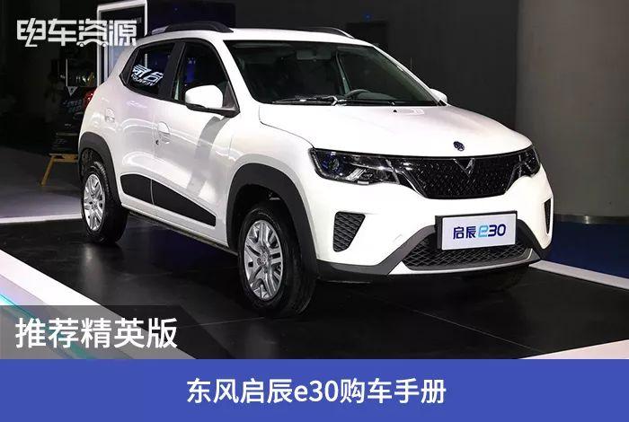 推荐东风奇辰e30车购手册精英版