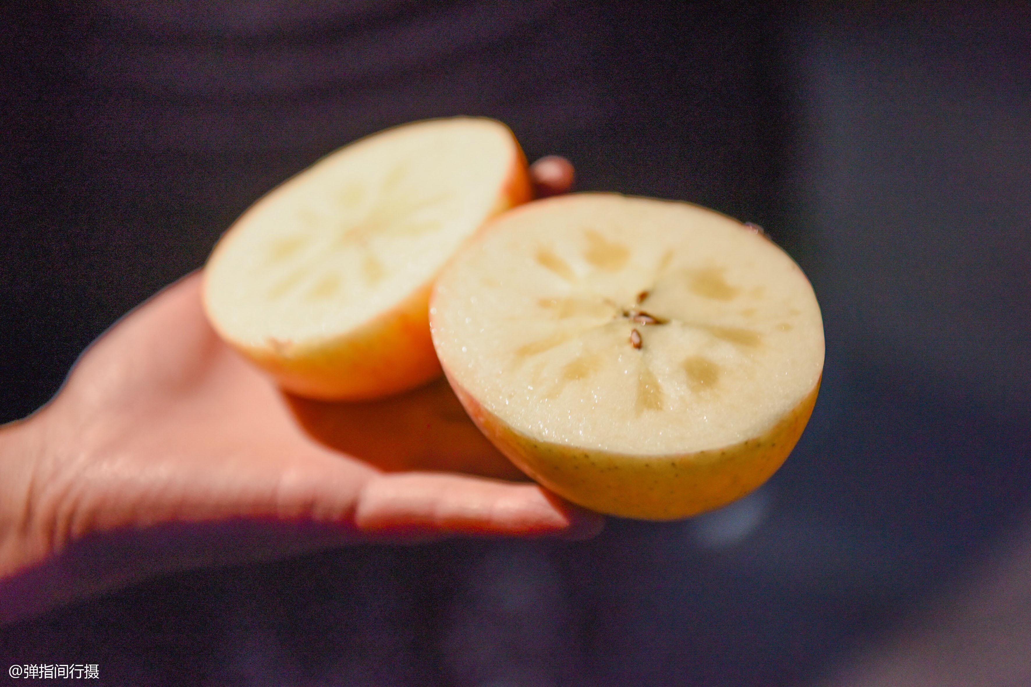 苹果切开里面是透明的怎么回事