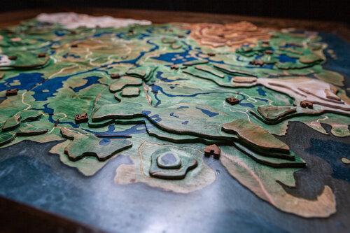 《塞尔达传说》玩家自制木板地形图还原《旷野之息》_环氧树脂