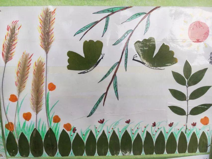 美丽的秋天,多彩的梦 周村区实验学校附设幼儿园开展 亲子手工粘贴画展评活动图片