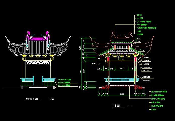 古建筑cad图纸,高清的中国古建筑cad图纸免费素材分享