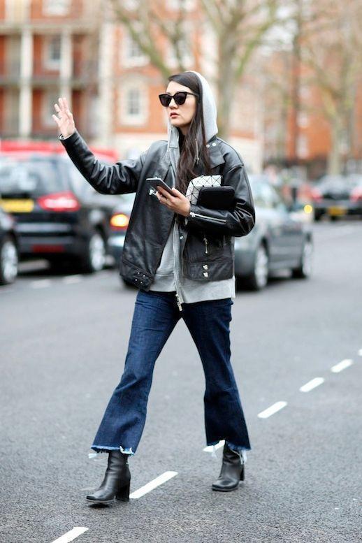 原创             被众女星种草的皮衣怎么穿出高级感?除了搭牛仔裤,还有这些搭配