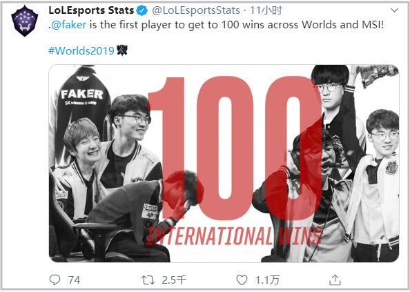 Faker成首个拿下LOL世界赛及季中赛100胜的选手_英雄