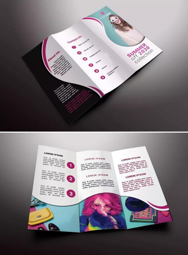国外三折页设计欣赏