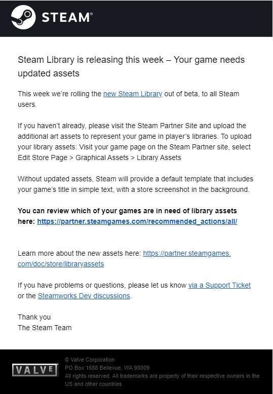 Steam新版游戏库测试结束本周面向全用户推出正式版_Reddit