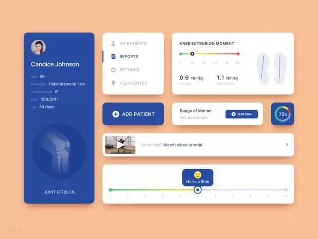 国外医疗网站后台管理界面设计