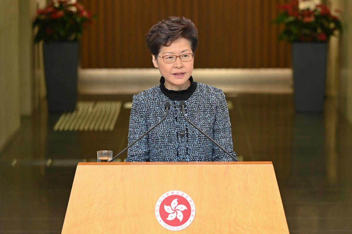林郑月娥:本港经济或进入技术性衰退,全年可能出现负增长