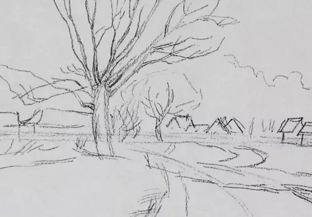 风景素描 精炼的作画步骤,适合初学者so easy