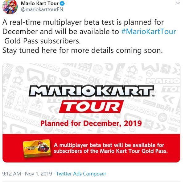 手游《马力欧赛车Tour》12月增加多人对战模式