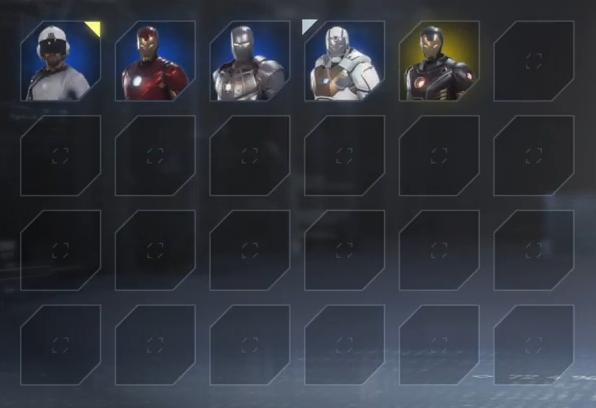 《漫威复仇者联盟》钢铁侠有24个皮肤还有表情包可选_截图