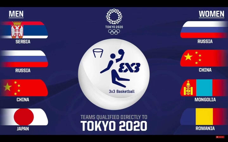 中国三人篮球国家男、女队取得东京奥运会参赛资格