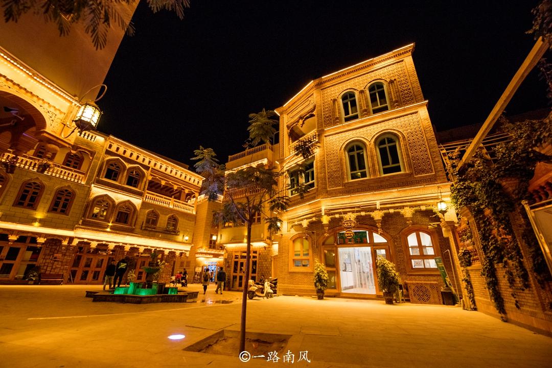 """新疆沙漠绿洲中有座""""古城"""",建筑雅致,夜景好迷人!_和田"""