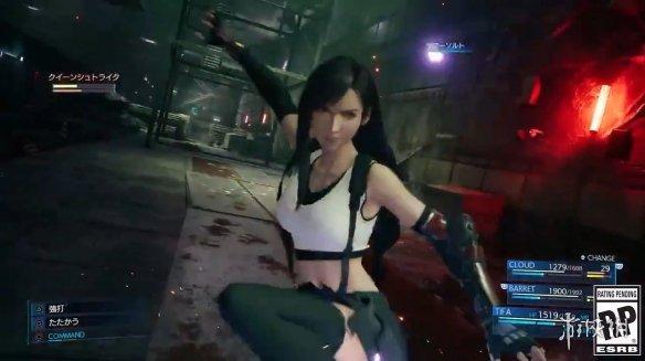 极限爆发踢爆敌人《最终幻想7重制版》蒂法最新演示
