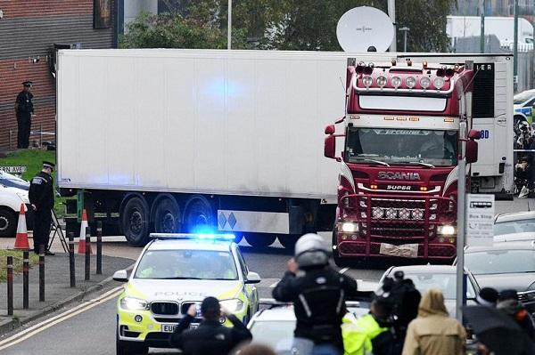 英國警方發聲明:貨車慘案39名遇難者均為越南人