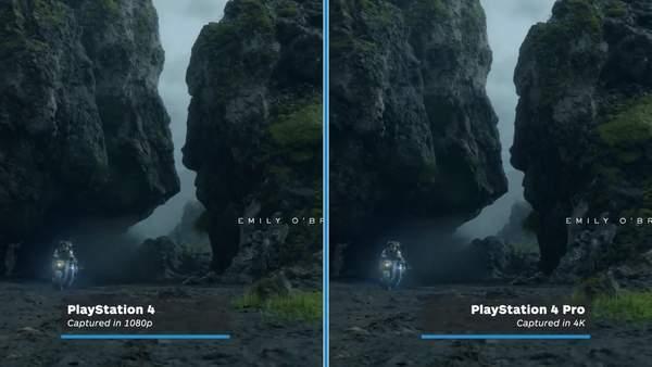 《死亡搁浅》PS4与PS4Pro运行效果对比画面差距不大_游戏