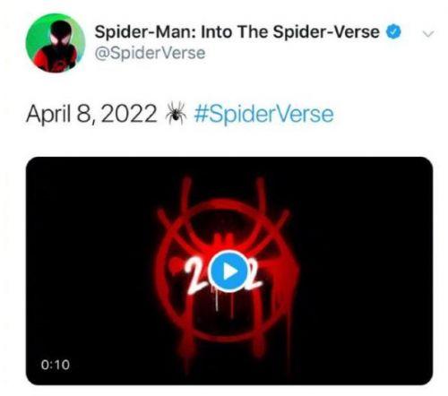 《蜘蛛侠:平行宇宙2》定档2022年4月8日在北美上映_动画片
