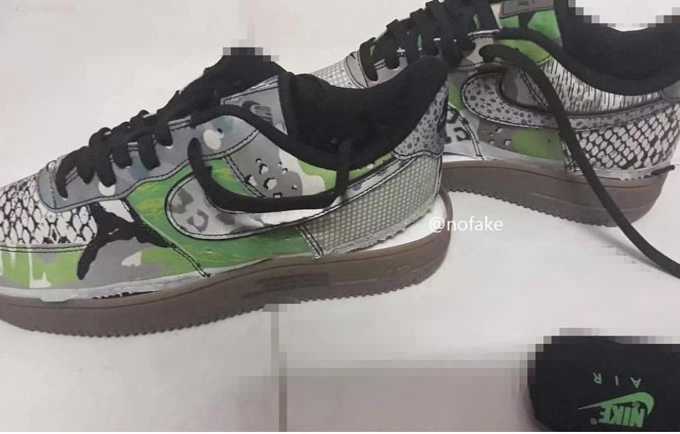 又一款拼接大热门?Nike Air Force 1新配色曝光!