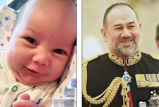 """马来西亚国王前妻晒娃""""打脸""""出轨新闻,""""亚洲脸""""神似父亲"""