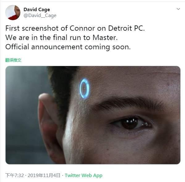 《底特律:变人》首张PC版截图公布最终版开发接近完工_官方