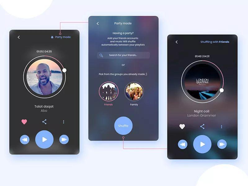 dribbble音乐APP UI界面概念设计