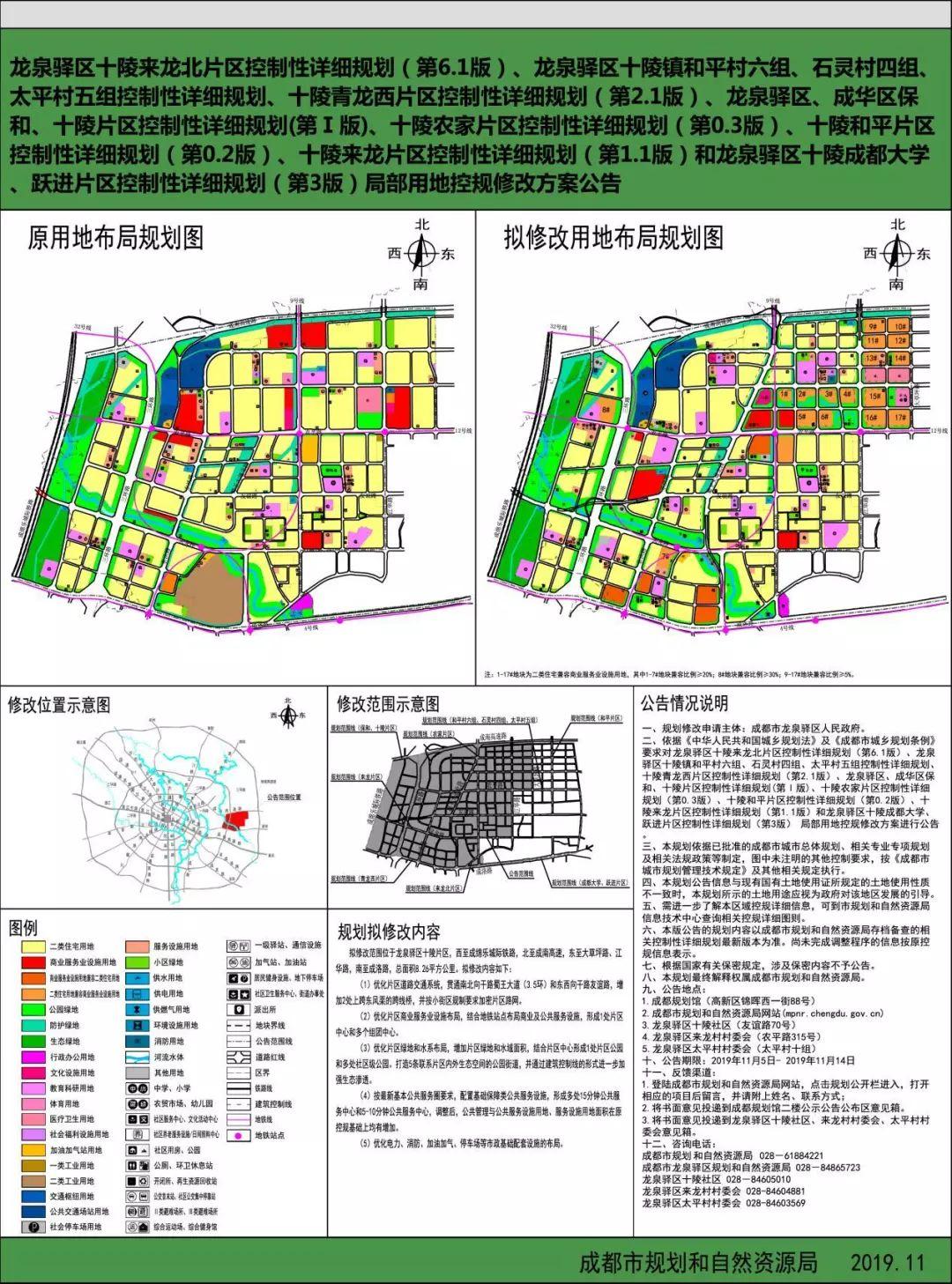 2019年11月龙泉驿区十陵片区规划图