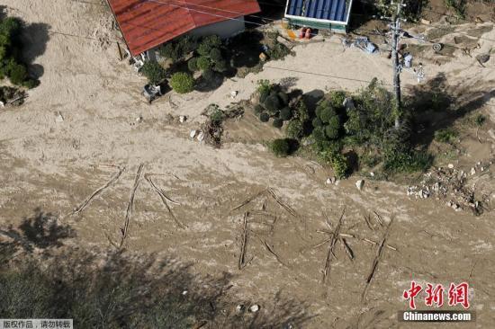 """""""海贝思""""在日本引发821起灾害系1982年来最多"""