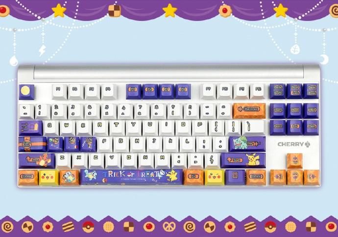 樱桃推出宝可梦键盘:皮卡丘/小火龙/杰尼龟/妙蛙种子都在了_机械