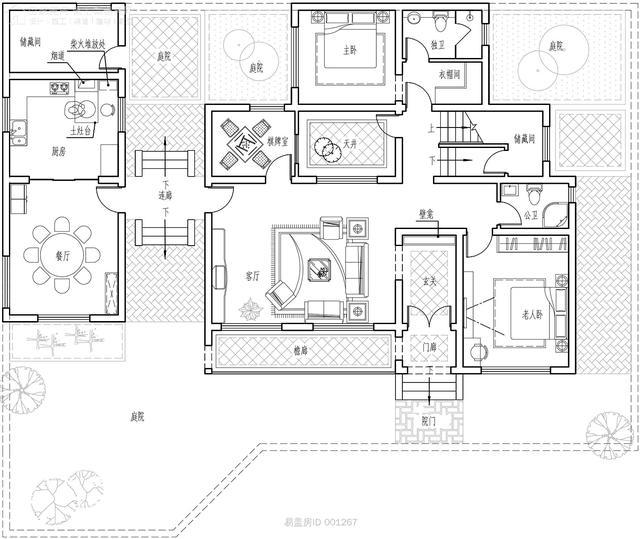 一层别墅平面图图片